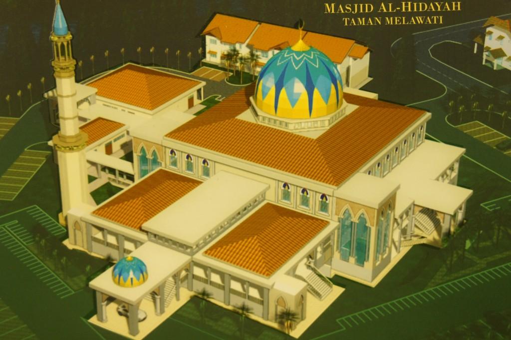 Pelan Asal Masjid Al-Hidayah Taman Melawati